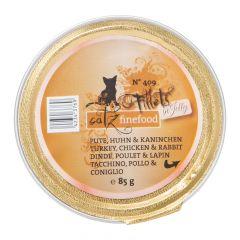 Catz finefood - Nassfutter - Fillets No. 409 Pute, Huhn & Kaninchen (getreidefrei)