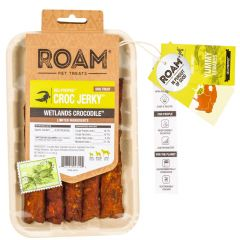 Roam Pet Treats - Hundesnack - Krokodil Kaustreifen Croc Jerky (getreidefrei)