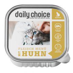 daily choice - Nassfutter - Fleischmenü mit Huhn Schale 6 x 100g (getreidefrei)