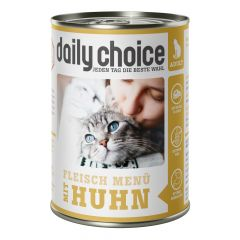 daily choice - Nassfutter - Fleischmenü mit Huhn 6 x 400g (getreidefrei)