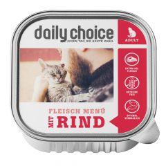 daily choice - Nassfutter - Fleischmenü mit Rind Schale 6 x 100g (getreidefrei)