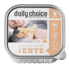 daily choice - Nassfutter - Fleischmenü mit Ente Schale 6 x 100g (getreidefrei)