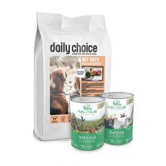 daily choice - Hundefutter - Premium Paket 15kg + Müller's Naturhof Nassfutter 12 x 400g