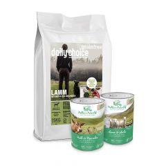 daily choice - Hundefutter - Premium Paket Grainfree 15kg + Müller's Naturhof Nassfutter 12 x 400g