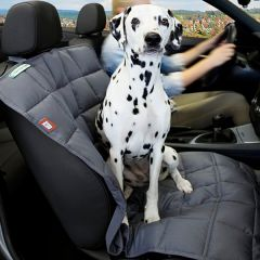 Doctor Bark - Hundedecke - Autoschondecke Beifahrersitz grau