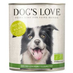 Dog's Love - Nassfutter - Bio Huhn mit Buchweizen und Sellerie (getreidefrei)