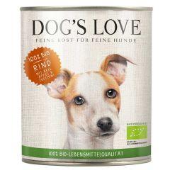 Dog's Love - Nassfutter - Bio Rind mit Reis und Apfel