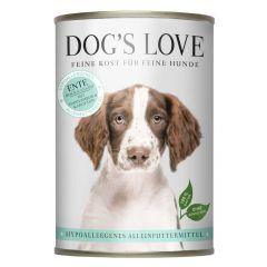 Dog's Love - Nassfutter - Hypoallergen Ente mit Topinambur und Karotten (getreidefrei)