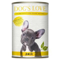 Dog's Love - Nassfutter - Junior Geflügel mit Zucchini und Apfel (getreidefrei)