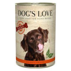 Dog's Love - Nassfutter - BARF Rind Pur (getreidefrei)