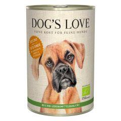 Dog's Love - Nassfutter - Bio Pute mit Amaranth und Kürbis 6 x 400g (getreidefrei)