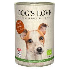 Dog's Love - Nassfutter - Bio Rind mit Reis und Apfel 6 x 400g