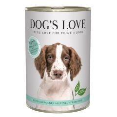 Dog's Love - Nassfutter - Hypoallergen Ente mit Topinambur und Karotten 6 x 400g (getreidefrei)