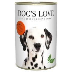 Dog's Love - Nassfutter - Classic Rind mit Apfel und Spinat 6 x 400g (getreidefrei)