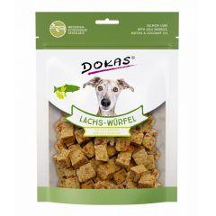 Dokas - Hundesnack - Lachs-Würfel mit Goji Beeren, Matcha & Kokosöl (getreidefrei)