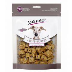 Dokas - Hundesnack - Lachs-Würfel mit Linsen, Rotkohl & Kokosöl (getreidefrei)