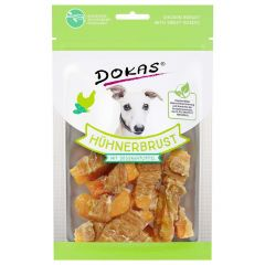 Dokas - Kausnack - Hühnerbrust mit Süßkartoffel in Stückchen (getreidefrei)