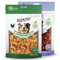 Dokas- Hundesnack - Vorteilspaket Fleisch in Stückchen 2 x 200g (getreidefrei)