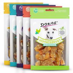 Dokas - Hundesnack - Vorteilspaket Hühnerbrust 5 x 70g (getreidefrei)