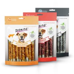 Dokas - Hundesnacks - Vorteilspaket Kaustangen 3 x 200g (getreidefrei)