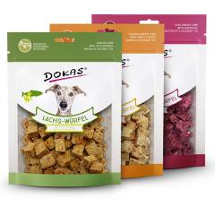 Dokas - Hundesnack - Vorteilspaket Superfood Würfel 3 x 150g (getreidefrei)