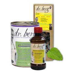 Dr. Berg - Nassfutter - Kurpaket Magen-Darm 12 x 400g + Snack 2 x 50g und Öl 250ml