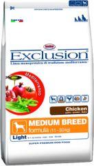 Exclusion - Trockenfutter - Mediterraneo Medium Light mit Huhn