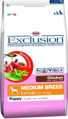 Exclusion - Trockenfutter - Mediterraneo Medium Puppy Junior mit Huhn