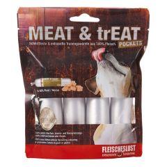 Fleischeslust - Hundesnack - Meat & Treat Pockets Pferd (getreidefrei)