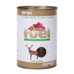 Fleischeslust - Nassfutter - Fuel Vitalizer Hirsch & Kaninchen 6 x 410g (getreidefrei)