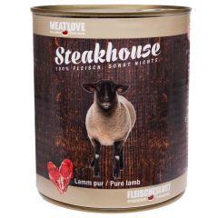 Fleischeslust - Nassfutter - Steakhouse Lamm Pur 6 x 820g