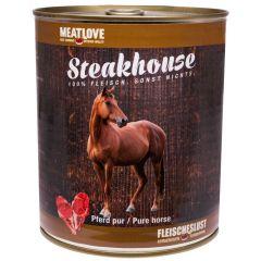 Fleischeslust - Nassfutter - Steakhouse Pferd Pur 6 x 820g