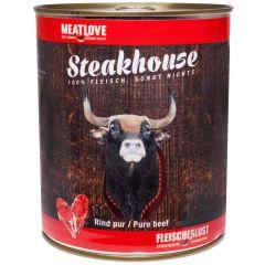 Fleischeslust - Nassfutter - Steakhouse Rind Pur 6 x 820g