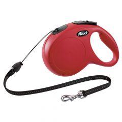 Flexi - Hundeleine - New Classic Seil-Leine rot