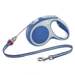 Flexi - Hundeleine - Vario Seil-Leine blau Gr.S 8m