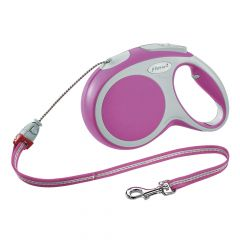 Flexi - Hundeleine - Vario Seil-Leine pink