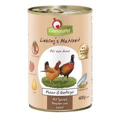 GranataPet - Nassfutter - Liebling's Mahlzeit Fasan & Geflügel (getreidefrei)