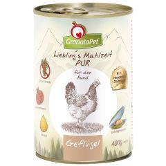 GranataPet - Nassfutter - Liebling's Mahlzeit Geflügel PUR (getreidefrei)