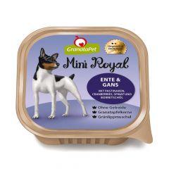 GranataPet - Nassfutter - Mini Royal Ente & Gans mit Pastinaken, Cranberries, Spinat und Borretschöl (getreidefrei)