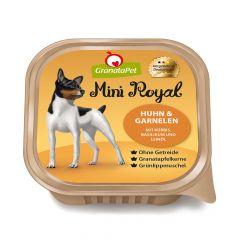 GranataPet - Nassfutter - Mini Royal Huhn & Garnelen mit Kürbis, Basilikum und Leinöl (getreidefrei)