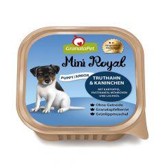 GranataPet - Nassfutter - Mini Royal Puppy/Junior Truthahn & Kaninchen mit Kartoffeln, Pastinaken, Möhrchen und Lachsöl (getreidefrei)