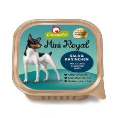 GranataPet - Nassfutter - Mini Royal Kalb & Kaninchen mit Zucchini, Kürbis und Leinöl (getreidefrei)