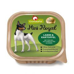 GranataPet - Nassfutter - Mini Royal Lamm & Kartoffel mit Fenchel, Hüttenkäse und Olivenöl (getreidefrei)