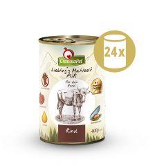 GranataPet - Nassfutter - Vorteilspaket Liebling's Mahlzeit PUR 24 x 400g