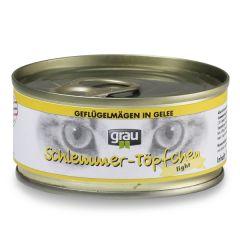 grau - Nassfutter - Schlemmertöpfchen Geflügelmägen in Gelee (getreidefrei)