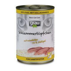 grau - Nassfutter - Schlemmertöpfchen Geflügel mit Vollkornreis