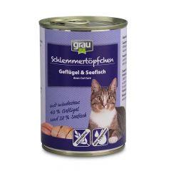 grau - Nassfutter - Schlemmertöpfchen Geflügel und Seefisch (getreidefrei)