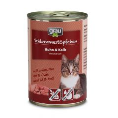 grau - Nassfutter - Schlemmertöpfchen Huhn und Kalb (getreidefrei)