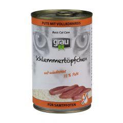 grau - Nassfutter - Schlemmertöpfchen Pute mit Vollkornreis