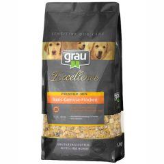 grau - Ergänzungsfutter - Excellence Premium-Mix Basis-Gemüse-Flocken